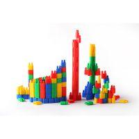 儿童教育玩具 桶装塑料双拼接头拼插积木RD1005建构积木