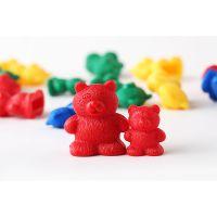 亲子互动益智系列玩具卡通计数小熊泰迪熊塑胶积木