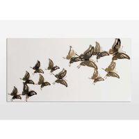 壁饰壁挂金属雕塑艺术品现代工艺品墙上装饰品 化蝶一