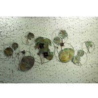 壁饰壁挂金属工艺品雕塑抽象艺术品墙饰挂件软装配饰 荷情荷里组合