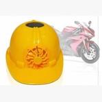 太阳能风扇安全帽 无电式风扇帽 工程帽 摩托车消暑头盔