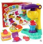 双色冰淇淋 益奇思8818A彩泥套装 过家家玩具 橡皮泥亲子