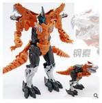 地摊变形恐龙儿童玩具变形恐龙4钢索恐龙火炭铁渣模型批发