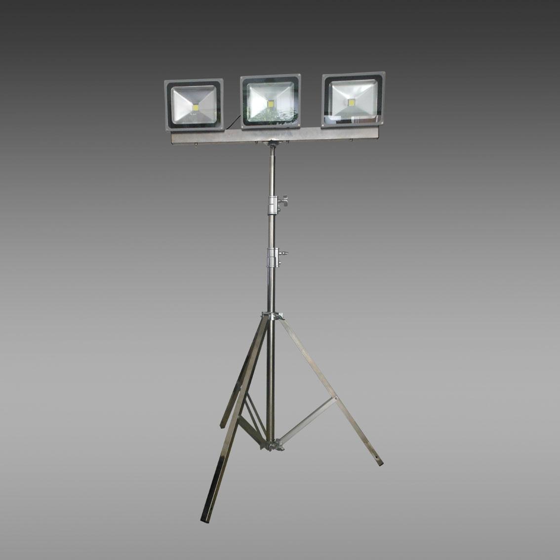 供应轻型升降泛光灯 便携式升降工作灯 手动升降式轻便移动照明灯
