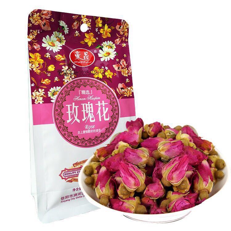 豪品牌玫瑰花 50g精美袋装优质干玫瑰花草茶 一级花蕾 商超供货直