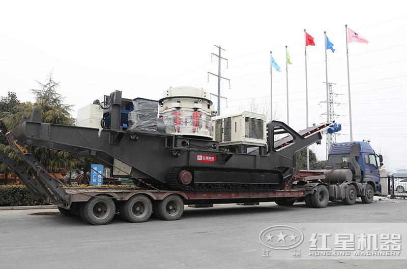 时产100吨移动式矿山破碎生产线报价Z94